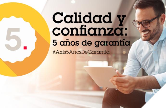 Axis Communications anuncia un incremento de tres a cinco años en la garantía de sus dispositivos sin costo adicional