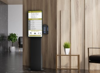 "ViewSonic presenta estaciones tecnológicas de sanitización de manos ""Health Flex"" con display integrado y reproductor multimedia"