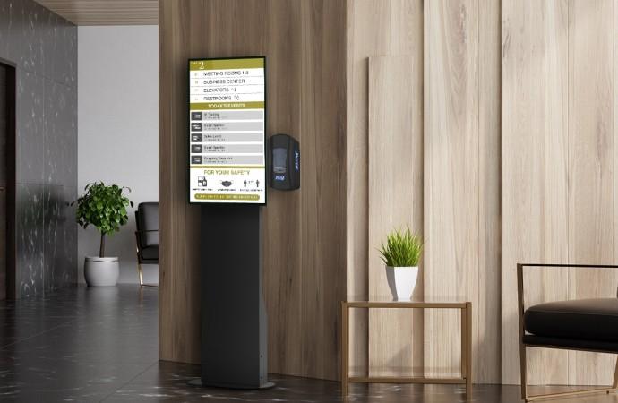"""ViewSonic presenta estaciones tecnológicas de sanitización de manos """"Health Flex"""" con display integrado y reproductor multimedia"""