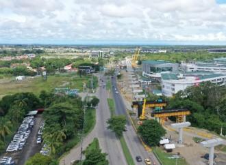 Metro de Panamá anuncia cierre de vías por montaje de vigas sobre la salida del Corredor Sur