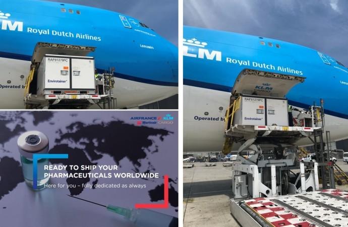 Air France KLM Martinair Cargo listo para  distribuir las vacunas Covid-19