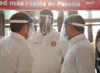 #TODOPANAMÁ promueve uso de pantalla facial en el transporte público como doble protección contra la Covid-19