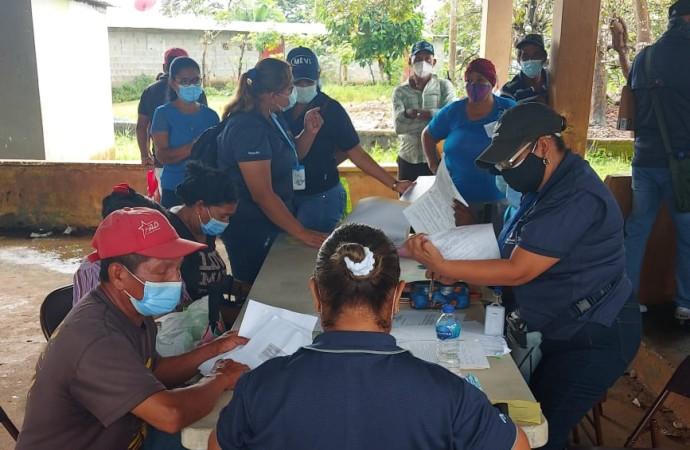 Autoridades censan a familias que ocupan terrenos en La Bendición de Chepo