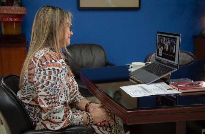 Ministra de Trabajo participa en reunión sobre el Impacto de la pandemia en el trabajo de la mujer
