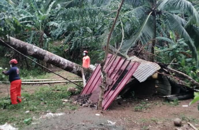 783 familias y viviendas afectadas por desastre climatológico en el país