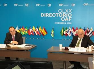Directorio de CAF aprueba USD 3.430 millones para impulsar el desarrollo de la región y la reactivación económica