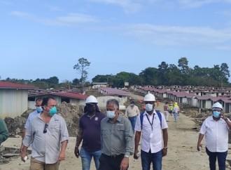 Avanza construcción de dos proyectos de urbanización en área insular en Bocas del Toro