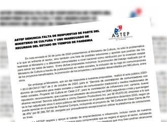 ASTEP denuncia falta de respuesta por parte del Ministerio de Cultura