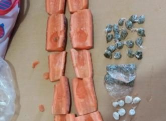 Autoridades decomisan sustancias ilícitas lanzadas por drones y presunta droga en zanahorias