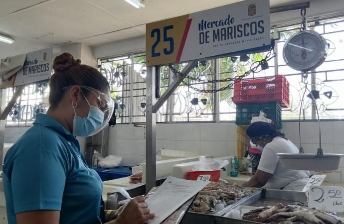 Acodeco informa sobre precios ofertados en el Mercado del Marisco