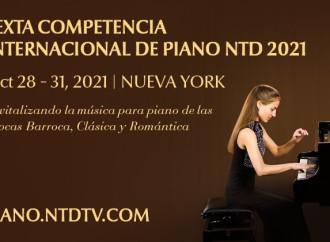 Competencia Internacional de Piano NTD 2021 abre inscripciones