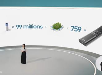 Accesorios de los TV de Samsung se alinean a la tecnología amigable con el planeta