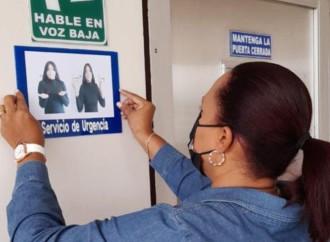 IPHE coloca señalización inclusiva en hospital de Chitré