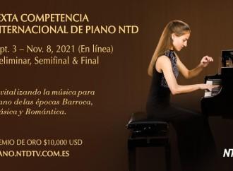 La Competencia Internacional de Piano NTDcelebrarálas tres rondas «en línea»