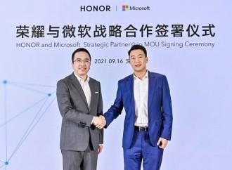 HONOR anuncia alianza estratégica con Microsoft