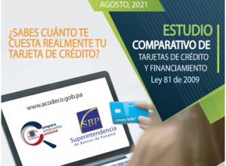 Acodeco presenta comparativo de tasas de interés y anualidad de tarjetas de crédito