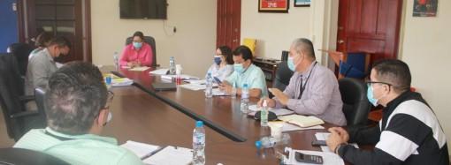 Autoridades del IPHE realizan reunión para evaluar avances delas diferentes obras de la institución
